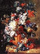 Bouquet of Flowers in an Urn by Jan van Huysum,